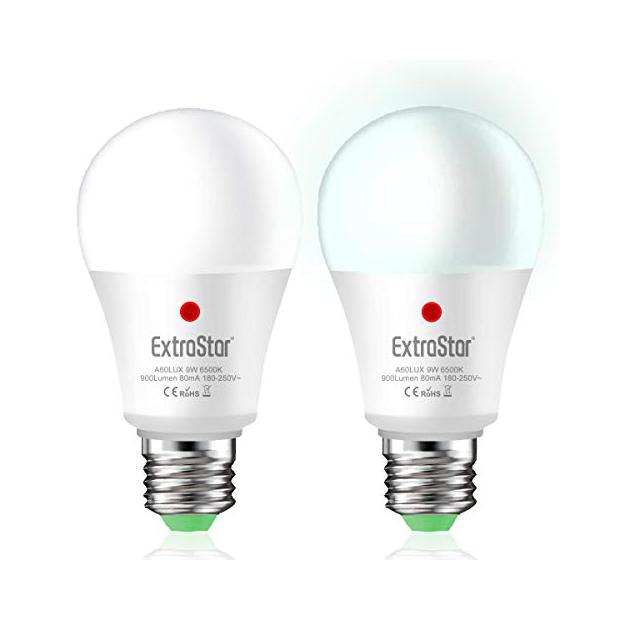 Bombillas LED E27 con sensor de luz