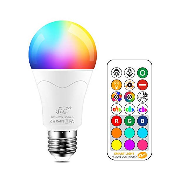 Bombillas LED de colores giratorias