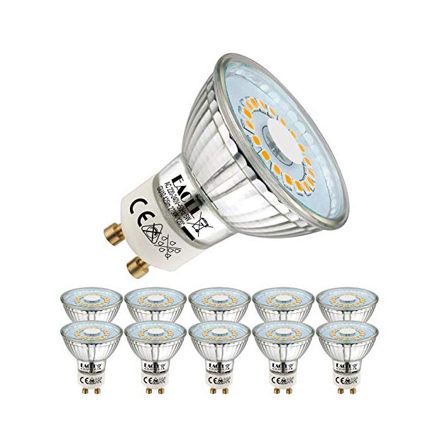 Bombillas LED dicroica 5w GU10 regulables cálida