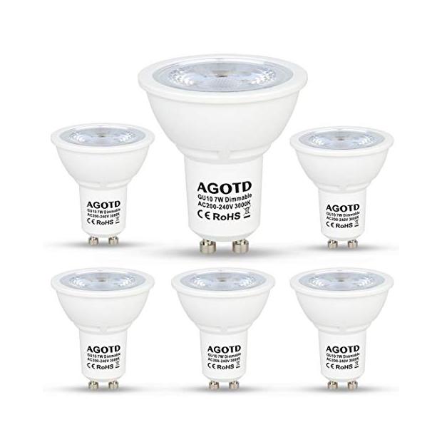 Bombillas LED regulables GU10 7w