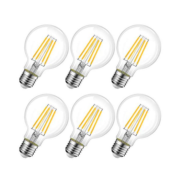 Bombillas globo LED transparentes