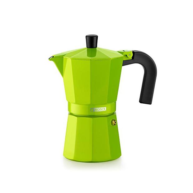 Cafeteras italianas de inducción verdes