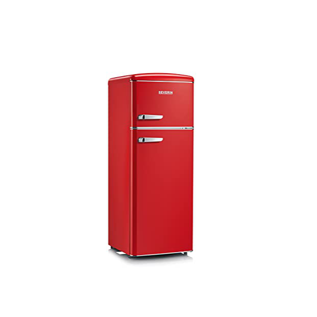 Congeladores verticales rojo
