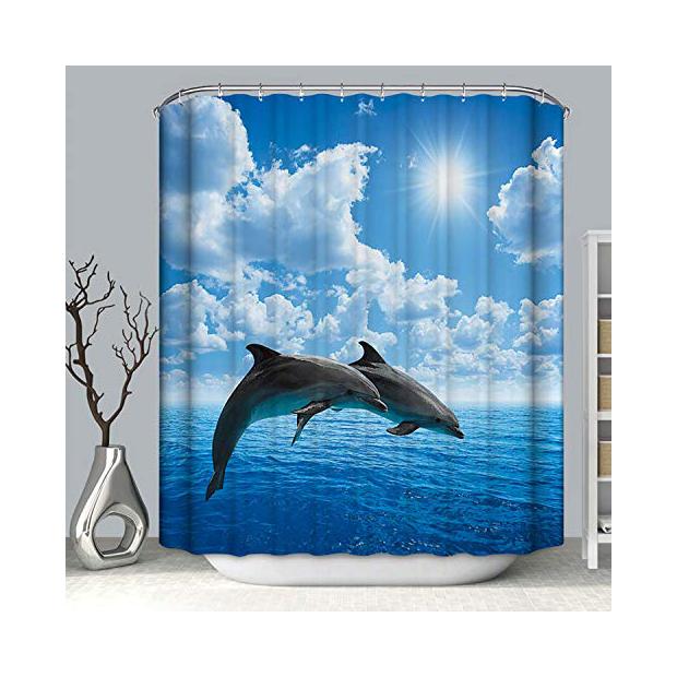 Cortinas de baño con delfines