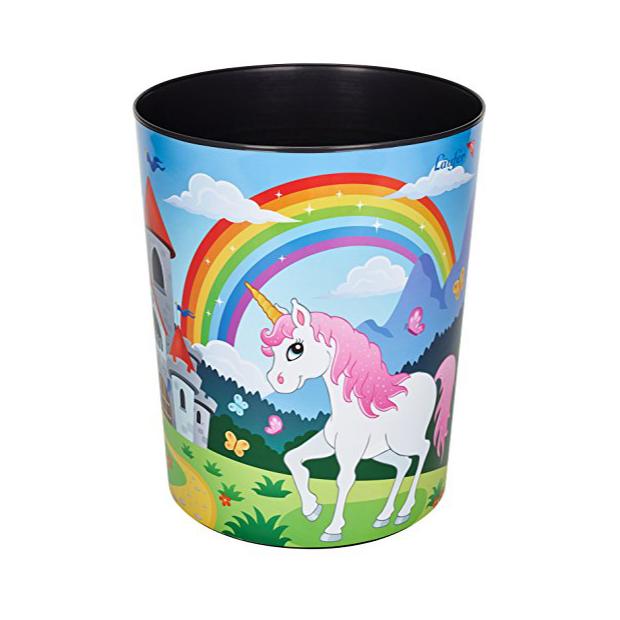 Cubos de basura de unicornios
