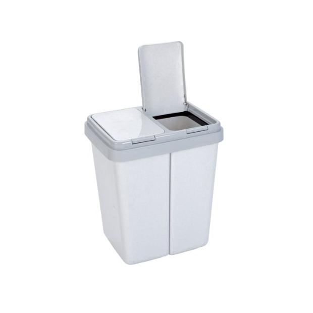 Cubos de basura dobles compartimento