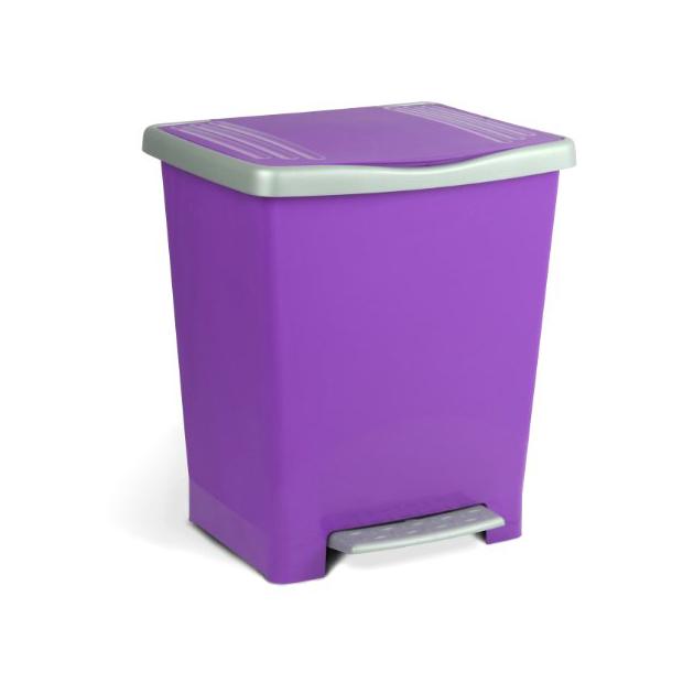 Cubos de basura lila