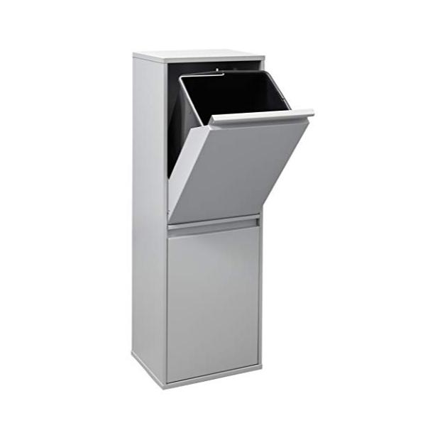 Cubos de basura reciclaje 2 compartimentos blancos