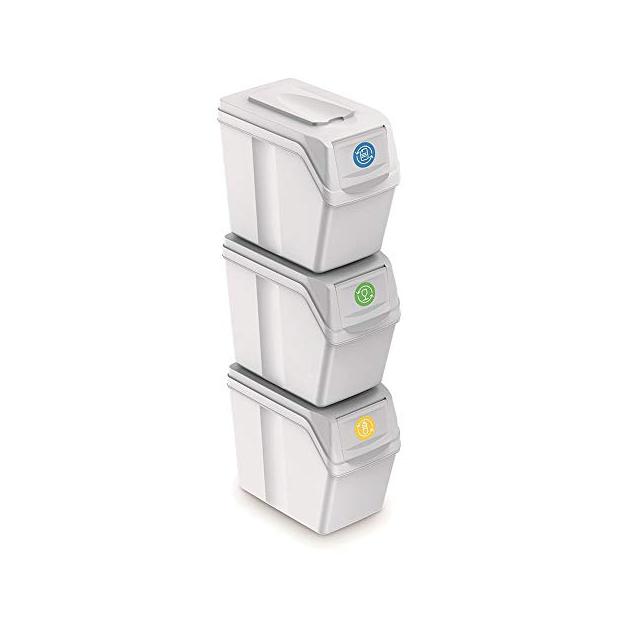 Cubos de basura reciclaje apilables