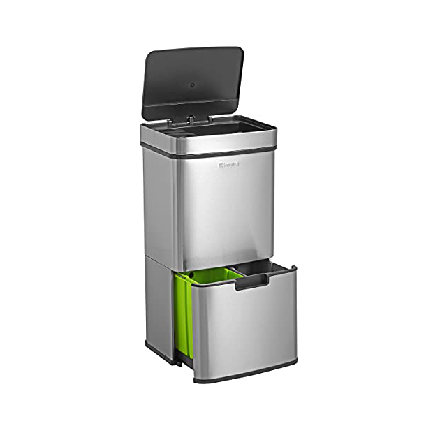 Cubos de basura reciclaje con sensor