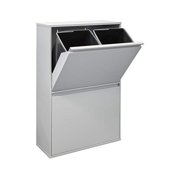 Cubos de basura reciclaje de metal