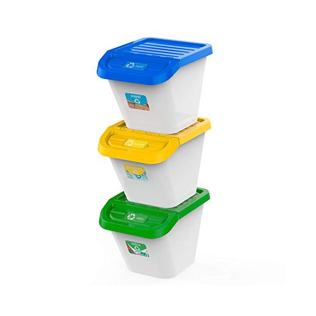 Cubos de basura reciclaje individuales