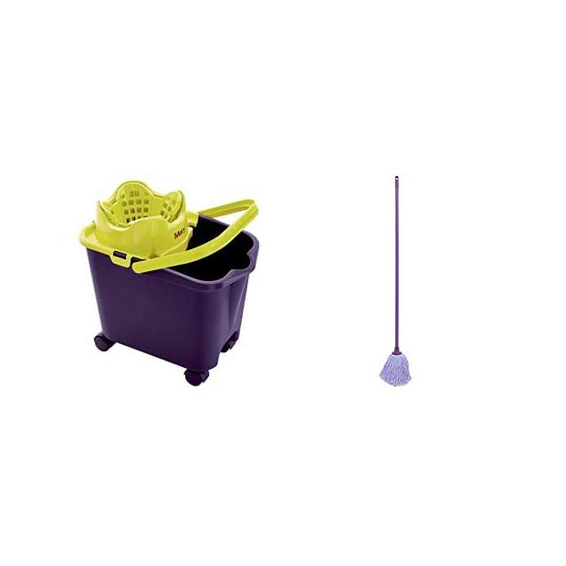 Cubos de fregona lila