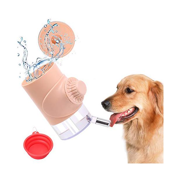 Dispensadores de agua con jaula para perros