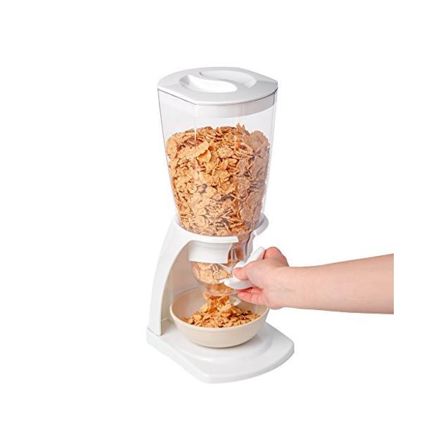 Dispensadores de cereales blancos