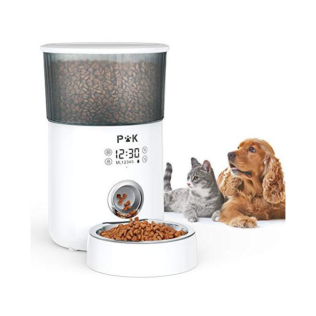 Dispensadores de comida de gatos con camara