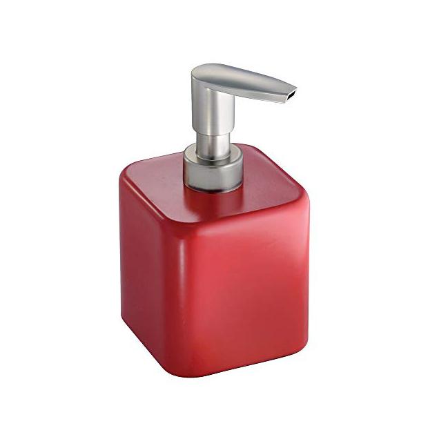 Dispensadores de jabon rojo