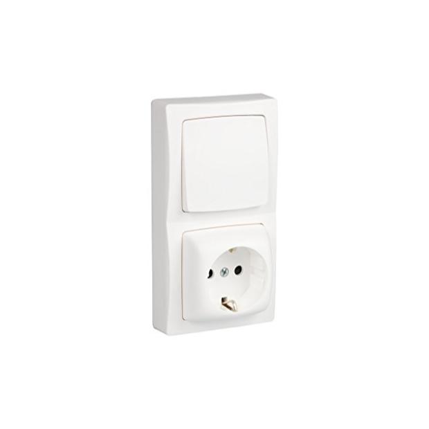Enchufes y interruptor de pared