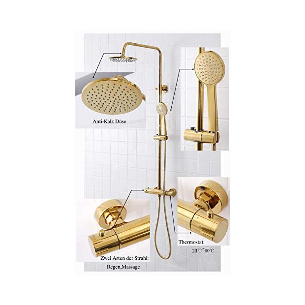 Grifos de ducha oro bronce