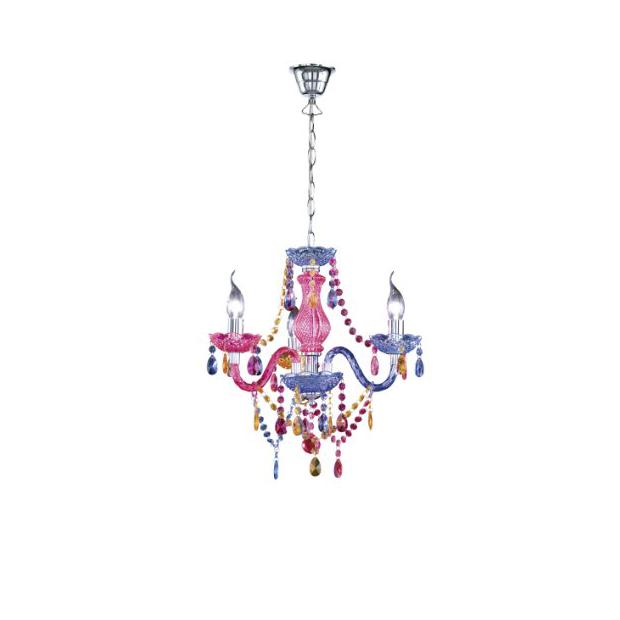 Lámparas de cristal de colores
