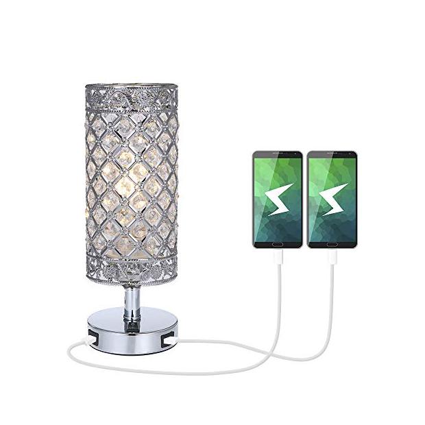 Lámparas de mesa con cargador usb