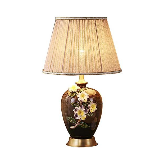 Lámparas de mesa de cerámica esmaltada