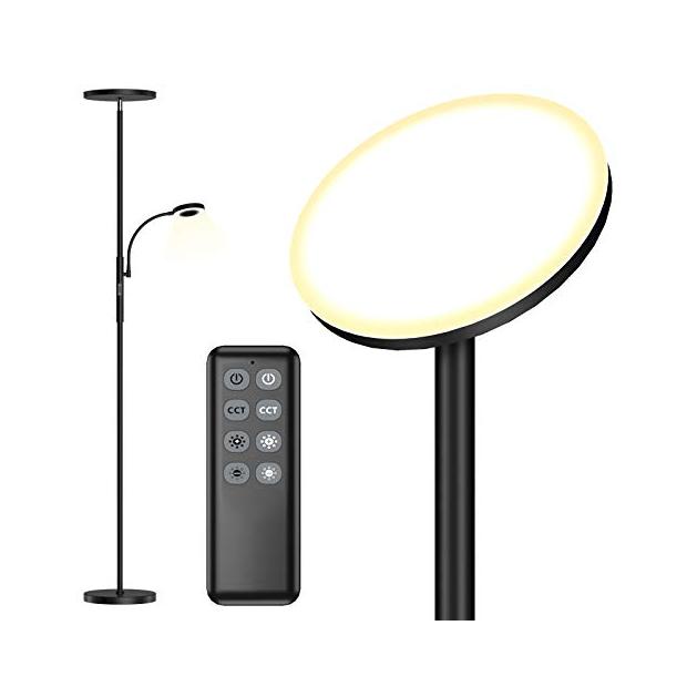 Lámparas de pie con lector bajo consumo