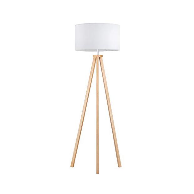 Lámparas de pie de madera estilo trípode