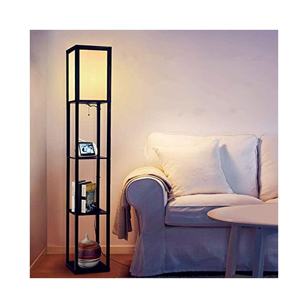 Lámparas de pie de madera natural