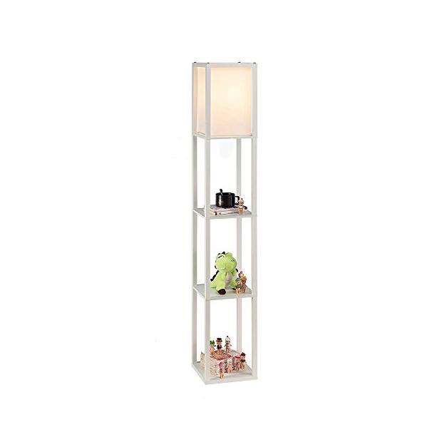 Lámparas de pie de madera rústica