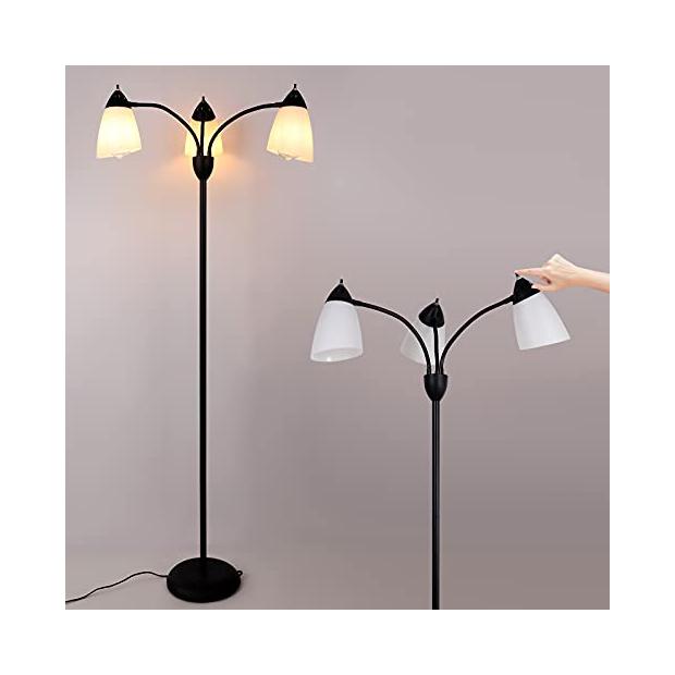 Lámparas de pie pantalla negras