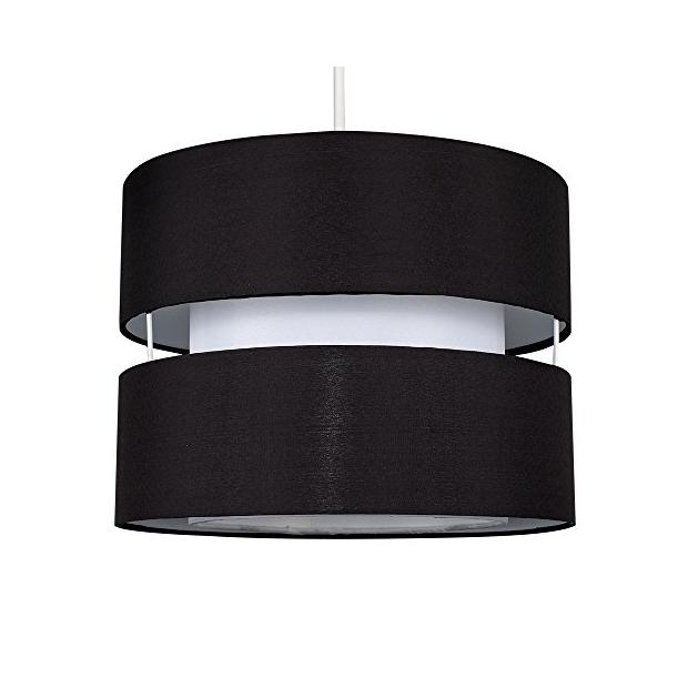Lámparas de techo cilindro negros