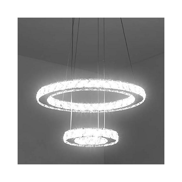 Lámparas de techo de cristal blancos