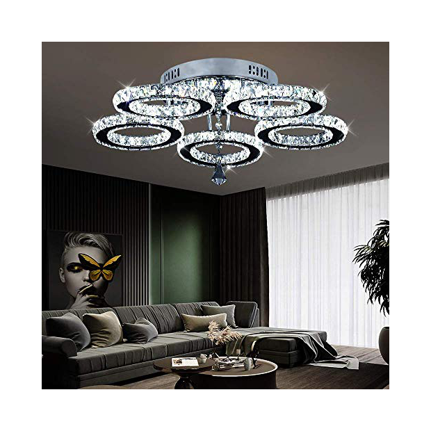 Lámparas de techo de cristal moderna