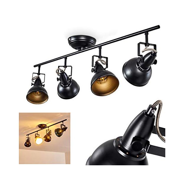 Lámparas de techo de metal negros