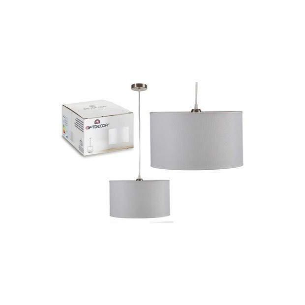 Lámparas de techo de tela blancas
