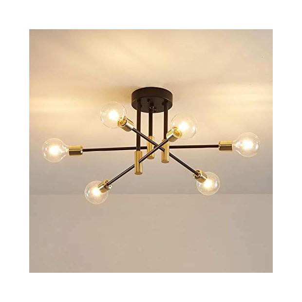 Lámparas de techo esfera cromada