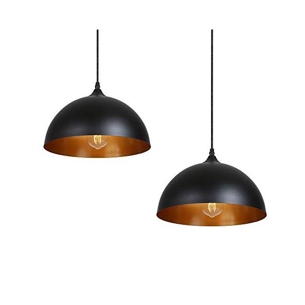 Lámparas de techo metálicas