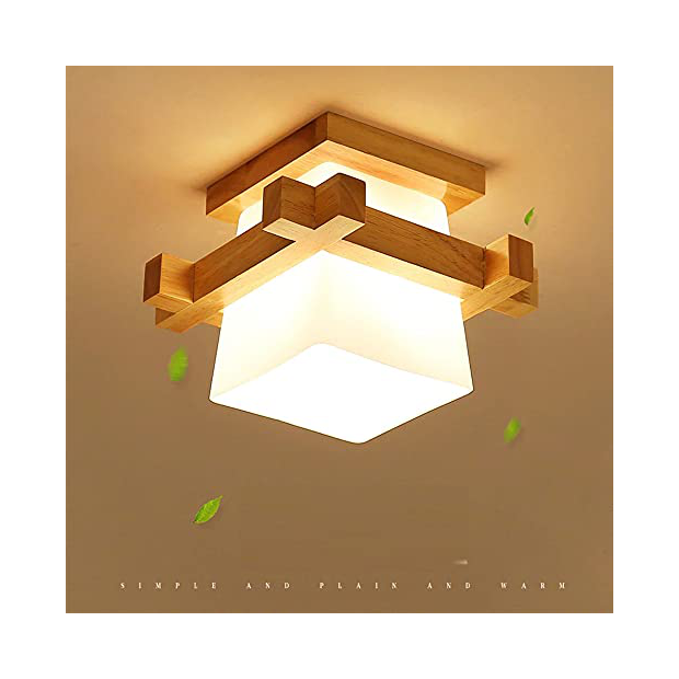 Lámparas de techo para porches de madera