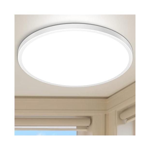 Lámparas de techo redondas blancas