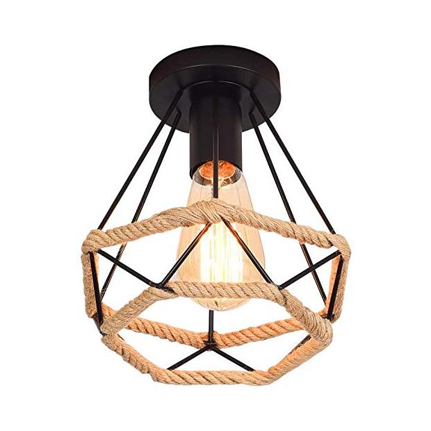 Lámparas de techo rústica de madera