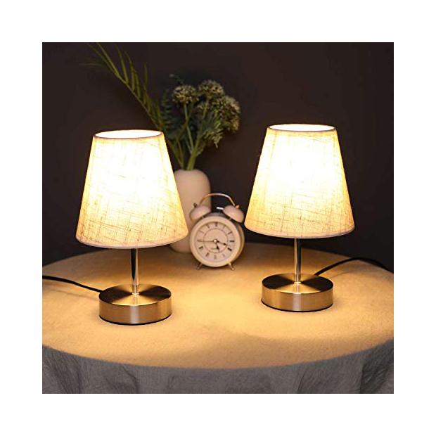 Lámparas para mesita de noche doradas