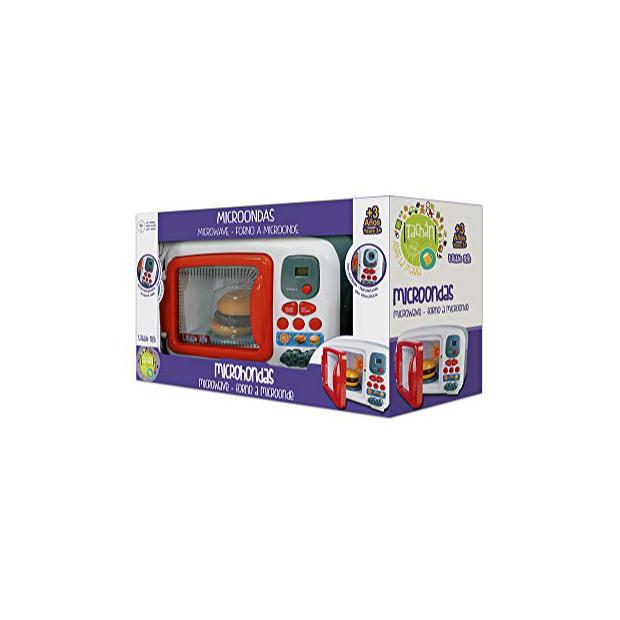 Microondas de juguete con luces y sonido