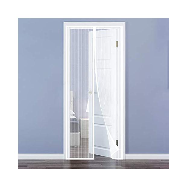 Mosquiteras para puerta magnética blancas