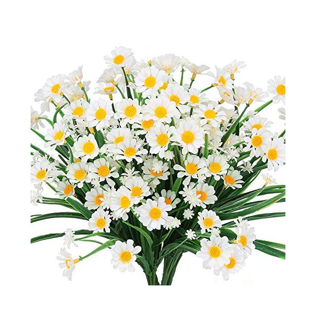 Plantas artificiales blancas