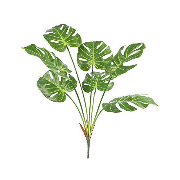 Plantas artificiales de hojas grandes