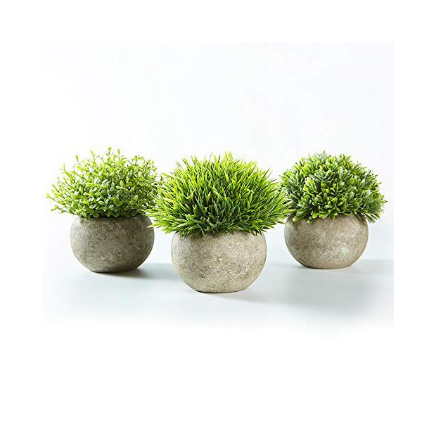 Plantas artificiales redondas