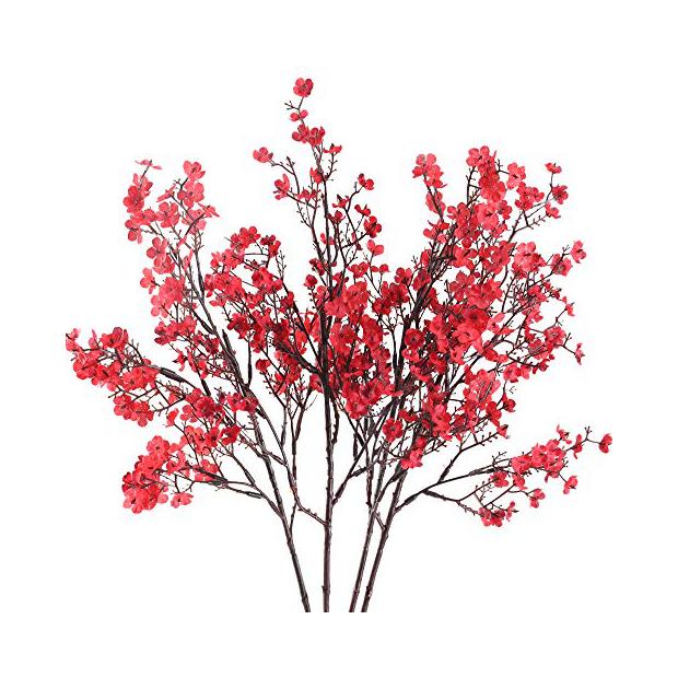 Plantas artificiales rojas
