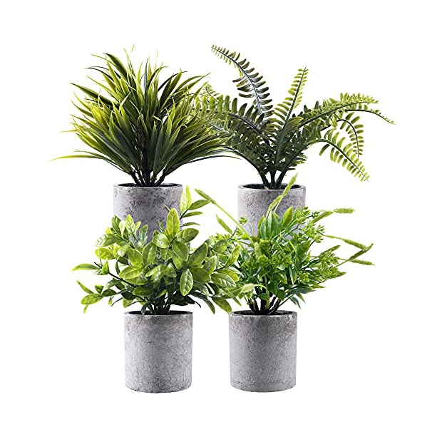 Plantas artificiales verdes