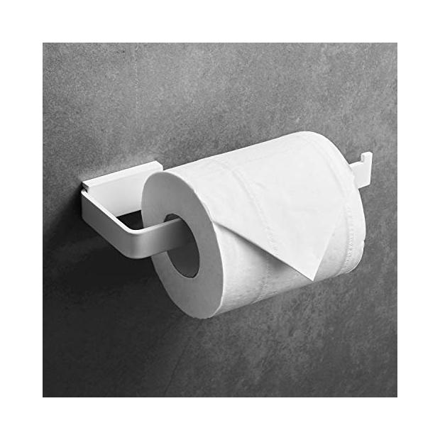 Portarrollos de baño blancos
